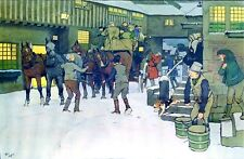 SNOWED UP ON CHRISTMAS EVE. CHROMOLITHOGRAPHIE. CECIL ALDIN. ANGLETERRE.XIX-XX