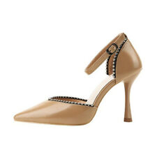 Korean Beading Thin Heel Fashion Pumps - Khaki (XYG070404)
