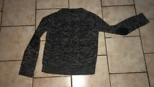 Pull noir gris avec coudieres taille M