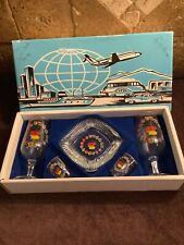 New listing Vintage Germany Deutschland Wine Glasses Shot Glass Ashtray Souvenir Boxed Set