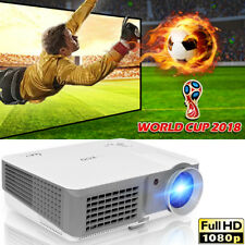 HD LED LCD 4000Lumen Video Projector 1080p Home Theater Movie Night HDMI*2 USB*2