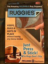Ruggies  As Seen On TV  Rug Grippers  Polymer  8 each