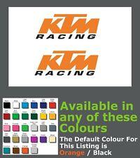 KTM Racing Decals/Stickers Moto Motorbike Widscreen x 2