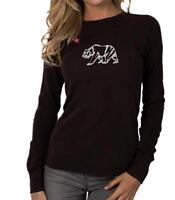 Women's Printed CALI BEAR CALIFORNIA Thermal Long Sleeve Crew Neck T-Shirt  Top