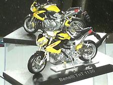 MOTO MINIATURE. BENELLI TNT 1130 / IXO 1/24 JAUNE
