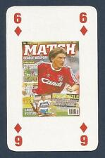 MATCH MAGAZINE-20 YEAR ANNIVERSARY COVER PLAYING CARD-LIVERPOOL-P BEARDSLEY-6D