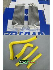 FOR Suzuki RM 250 RM250 2-stroke 1996 1997 1998 aluminum alloy radiator + hose