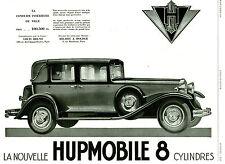 Publicité Ancienne  Voiture Hupmobile 8 Cylindres  1929