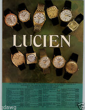 1969 PAPER AD 5 PG Lucien Piccard Wrist Watch $20 Gold Coin Seashark