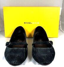 BIVIEL Black Velvet Maryjane Ballet Flat Size 37.5 IN BOX $136