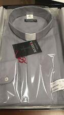 Camicia per Sacerdote Clergy 100 % Cotone grigio medio -  Made in Italy  nuova