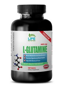 muscle health supplement - PREMIUM L-GLUTAMINE 500mg 1B - protects the heart