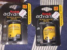 2 Rolls Kodak Black & White Aps B&W Film 400-25 Exposures Advantix Nos Sealed
