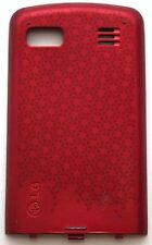 GENUINE LG Xenon GR500 BATTERY COVER Door Metallic RED phone back panel