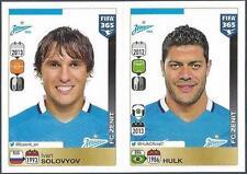 PANINI-2016 FIFA 365- #757-758-ZENIT SAINT PETERSBURG-IVAN SOLOVYOV-HULK