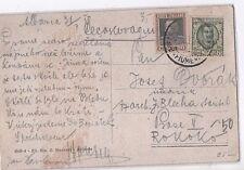 ITALIA 1929 FIUME CARTOLINA DA ABBAZIA PER REPUBBLICA CECA