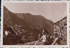 FOTO ALPINISTI AL Bivacco Money 1939 ALPE LAUSON Valle d'Aosta 7-82