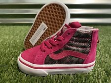 Vans SK8-Hi Zip Girls Toddler Shoes Leopard Mesh Pink White SZ 5 ( VN0A4BV1T3T )