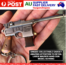 Large Metal Gun Mauser Hand Gun Military Collectable Key Ring Pistol Key Ring