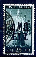 TRIESTE A - 1947  DEMOCRATICA Lire 25  USATO