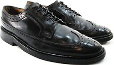 Florsheim Imperial Men Brogue Wing Tip Shoes Size 9 B Black  Leather Lined