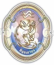"Aquarius Zodiac Sign Horoscope Astrology Car Bumper Vinyl Sticker Decal 4""X5"""