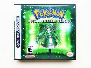 Pokemon Moemon Emerald Game / Case - GBA Gameboy Advance Anime Fan Mod (USA)