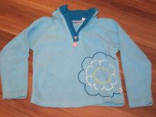 Fleece Pullover Sweater Motiv Gr. 98 blau hellblau 4-194