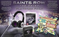 SAINTS ROW: THE THIRD PLATINUM PACK Collector Edition Ps3/playstation 3 neuf & scellé