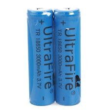2x18650 Batteries 3000mAh 3.7V Rechargeable Li-ion Battery Flashlight torch K1J4