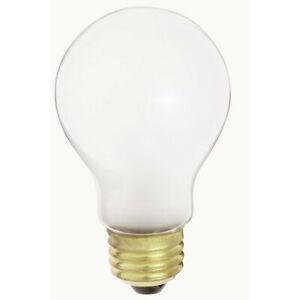Satco S4078 75W 230V A19 White E26 Medium Base Incandescent light bulb