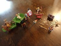 Toy assortment Tree Fu Tom Zigzoo's Wagon & Playmobil inc tool chest
