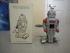 """VINTAGE ROBOTS - """"WEATHER ROBOT"""" - TIN WIND UP - NEW IN BOX"""