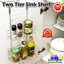Stainless Steel Kitchen Sink Shelf Over The Door Sauce Organiser Space Rack