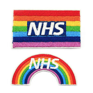 NHS Thank You Rainbow Sew On Patch Badge 2020 UK Support Pride IROHFUK