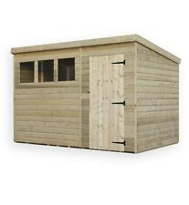 GARDEN SHED 10X4 SHIPLAP PENT TONGUE AND GROOVE PRESSURE TREATED 3 WINDOWS