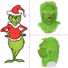 XCOSER Grinch Mask How the Grinch Stole Christmas Cosplay Latex Helmet Headgear