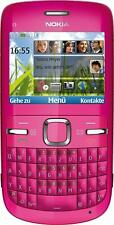 BRAND NOKIA C3-00 PINK UNLOCKED PHONE - BLUETOOTH - 2 MP CAMERA - FM RADIO