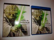 Star Wars Episode I-VI (1-6) Blu-Ray ONLY Prequels + Trilogy Complete Saga Set 6