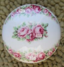 Shabby Roses White Ceramic Porcelain Door Cabinet Drawer Knobs Vintage Decals