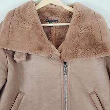 ZARA | Womens Faux Suede Leather Faux Fur Jacket  [ Size M or AU 12 / US 8 ]
