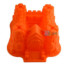 Castle Silicone Cake Mould Chocolate Bread Fondant Baking Pan Mould Mold 3D