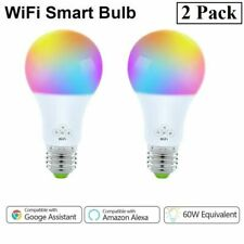 Pack of 2 Smart Color Light Bulb WiFi for Amazon Alexa/Google Home Music Sync