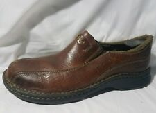 Clarks Mens 8.5 M Brown Leather Slip On Loafers Shoes 78004 Casual Light Weight