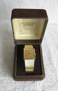 Christian Andree Swiss Made Incabloc 25 Jewel Automatic Gold Plated Watch
