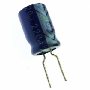 220uF 10V  Electrolytic  Radial Capacitor 85C