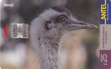 URUGUAY CHIP PHONECARD USED BIRD,1.