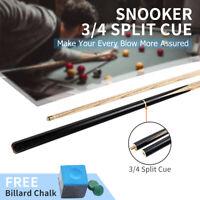 Pool Cue 3/4 Split Cue 145CM / 57.1'' Head 10 MM + Cue Chalk Leather Tip Black