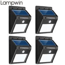 4 Stück LED Solar Bewegungsmelder Lampe Hof Garten Wasserdicht Outdoor Wandlampe