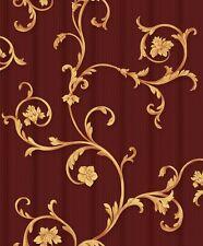 Vinyl Tapete Barock Retro # rot/gold # Fujia Decoration # 22522